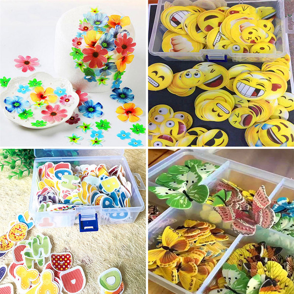 2019 Edible Cake Flowers Topper Wafer Paper Butterfly Cupcake Picks Wedding Cake Decoration Birthday Party Decoration Kids Wx C62 From Starhui 11 57