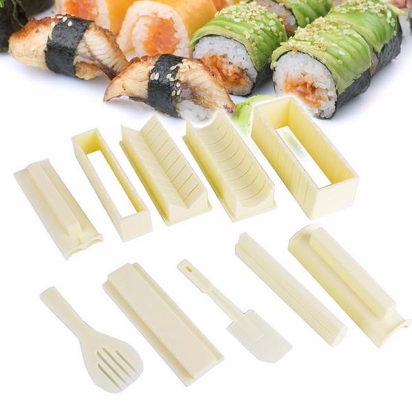 Set 10 Pcs Moules à sushi// Sushi maker En Forme Coeur Triangulaire Rond