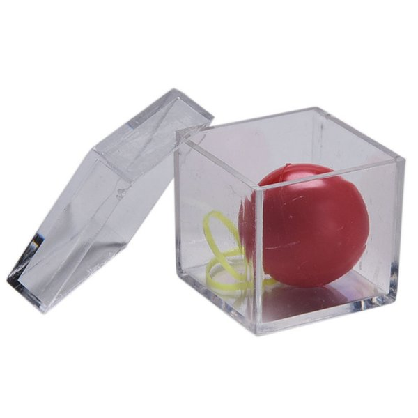 Funny Children Stage Magic Toy Clear Ball Through Box Illusion Magic Tricks Sell Fun For Magicians 2017 Factory Wholesale