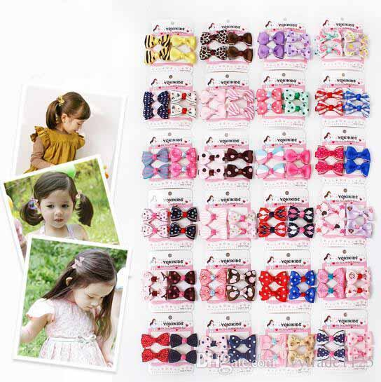 24 styles Kids hair accessories Sets little girl Bow Flower boutique Hair bows Toddler barrettes Girls Hair Set hairs Clip