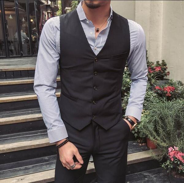 2017 Customize Slim Fit Groom Tuxedos Light Grey Side Slit Mens ...