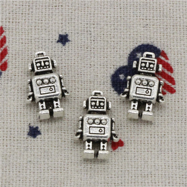 Wholesale- 108pcs Charms mechanic robot 18*11*4mm Pendant, Tibetan Silver Pendant, For DIY Necklace & Bracelets Jewelry Accessories