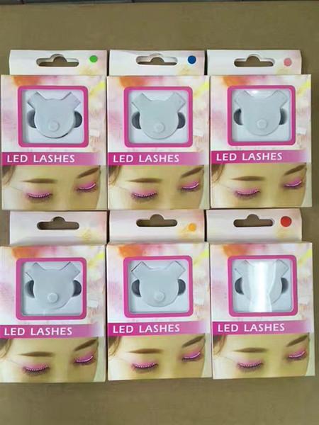 Fashion LED Eyelashes Luminous False Eyelashes Fashion Glowing Eyelashes Waterproof for Dance Concert Party Nightclub DHL Free
