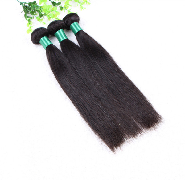 Grade 5A Top Quality--100% Human Indian Hair Straight Double Weft 50g/pc& 6pcs/lot, free DHL