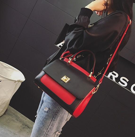 Collision color. Small. Casual fashion. Metal lock. Women's Bags. Girls. PU. Soft.Cross Body.Shoulder Bags.Totes.Handbag.