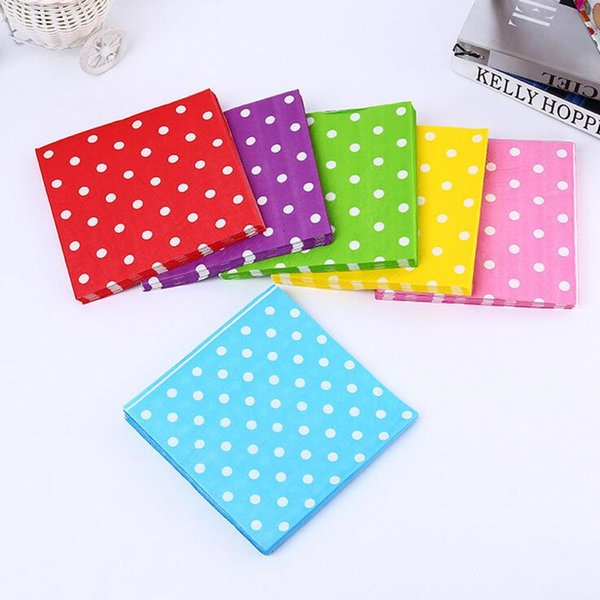 Disposable Colorful Polka Dot Paper Napkin Tableware Decor Napkins For  Wedding Birthday Party Decoration Supplies Decorative Balloons For Party