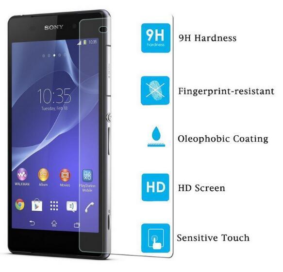 Tempered Glass Screen Protector For Sony Xperia X XA Ultra C6 Ultra X Compact XZ XZS L1 XA1 Ultra 9H Anti Scratch