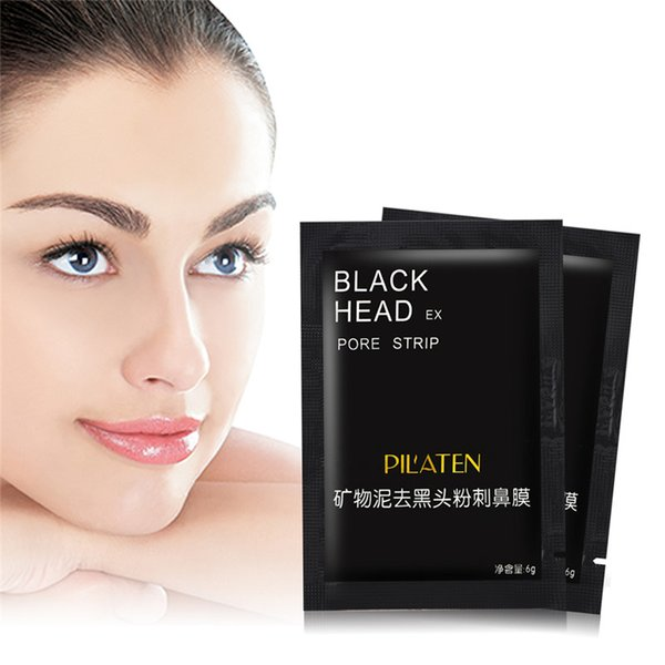 best selling 400pcs lot PILATEN Facial Minerals Conk Nose Blackhead Remover Mask Pore Cleanser Nose Black Head EX Pore Strip New Packing DHL