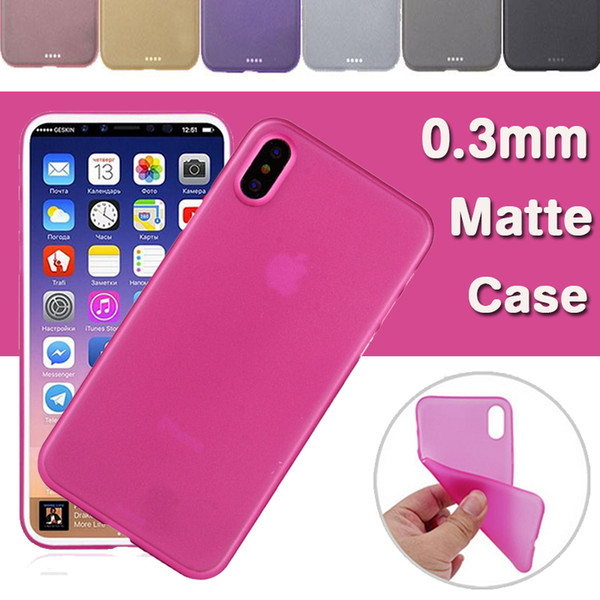 0.3mm Ultra Slim Matte Frosted Transparent Crsytal Soft PP Protection Cover Case For iPhone XS Max XR X 8 Plus 7 6 Samsung Galaxy S9 S8 Note