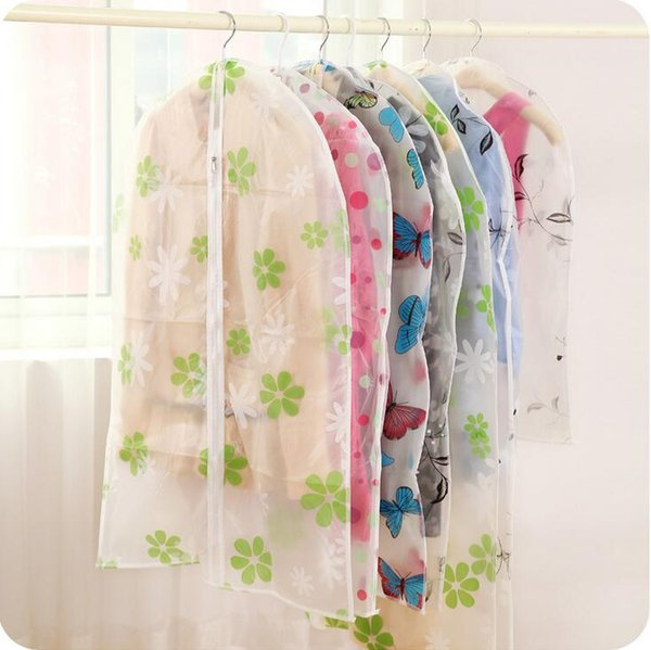 S/M/L size hanging clothing storage bags semi-transparent waterproof dust cover wardrobe storage bags clothes organizer closet organizer
