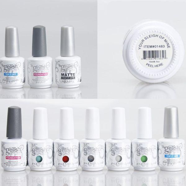 top popular 293 Colors 15ml Harmony Gelish Gel Polish UV Base Coat Foundation Top Coat Soak Off Nail Gel Nail Art Tools Accessories for Fedex 2019