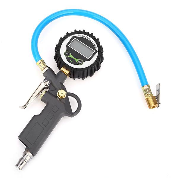 Inflador portátil del aire del neumático del coche para el compresor, indicador de presión inflable del neumático eléctrico auto mini 220psi, prueba de la pantalla LCD digital