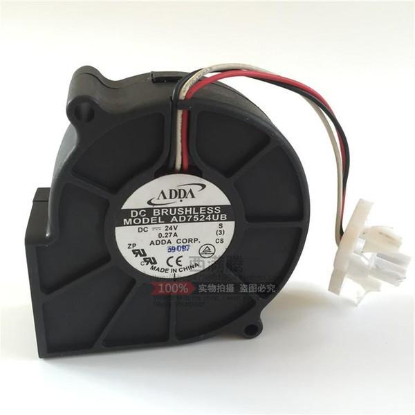 top popular Original ADDA AD7524UB 7cm 24V 0.27A Inverter cooling fan 2021