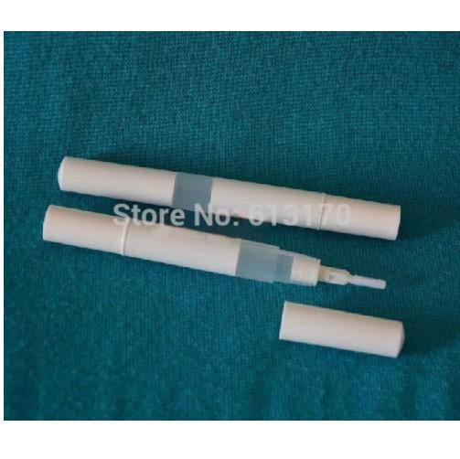 Kostenloser Versand 3ml Eyeliner Flasche mit Pinsel Lidschatten Flasche leere Flüssigkeit Lipgloss Rohr Mascara Revitalash Flaschen weiß