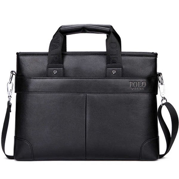 High Quality PU Leather Brand Mens Briefcase Classic Business Leather Men Handbags maletin cuero male