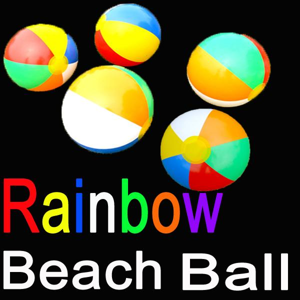 6 color 9 Inch Inflatable Beach Ball Rainbow Multi-colour Outdoor Water Sports Balloon Water Toys Party Gift For Children C152Q