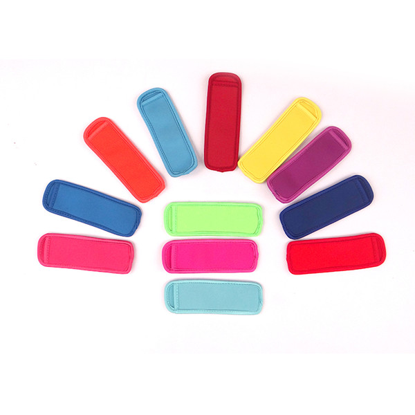 best selling Hot sale High quality Popsicle Holders Pop Ice Sleeves Freezer Edge Covering 18cmX6cm Neoprene Waterproof for Kids Summer Kitchen Tools A080
