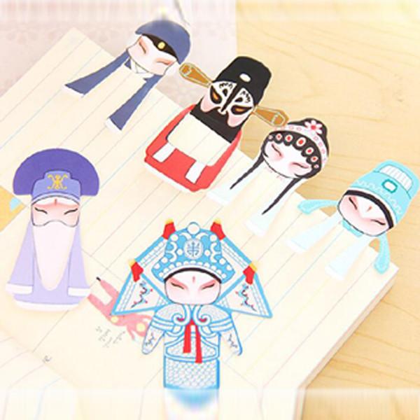 50 pcs / lot bande dessinée forme livre marques papier signet papeterie accessoires de bureau fournitures scolaires style chinois signets livraison gratuite