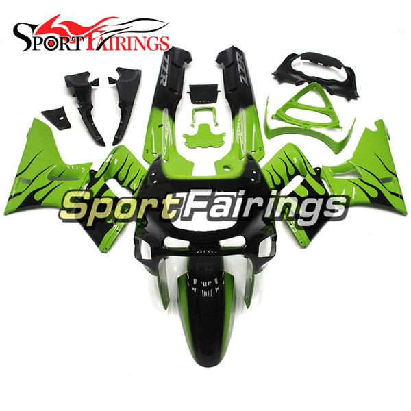Injection Fairings For Kawasaki ZZR600 ZZR-400 1993 - 2007 ABS Plastic Complete Motorcycle Fairing Kits Cowling Green Black Flame