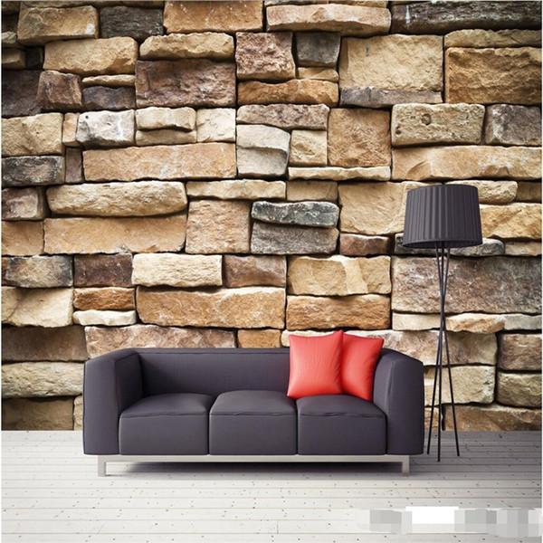 Groß-wallpaper 3D große Wandbild Dekor Foto Hintergrund Fotografische HD im Freien Ziegelmauer Restaurant Moderne Wandmalerei für Wohnzimmer
