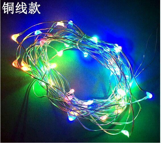 2m 20pcs alambre de cobre luces