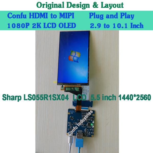 Compre Hdmi Para Mipi Dsi Conversor Adaptador Placa De Driver Para Sharp  5 5 Polegadas 2k Lcd Display 1440 * 2560 Ls055r1sx04 Projetor Plc 3d
