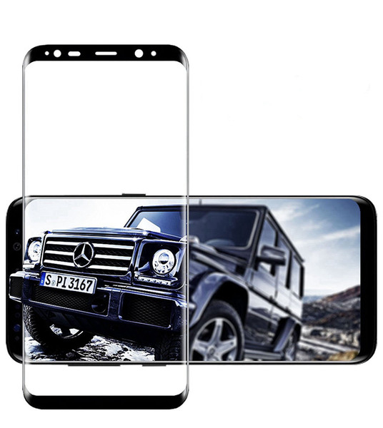 3D Curved Tempered Glass for Samsung S8 S8 plus HD Cell Phone Screen Protectors Front Anti-Scratch,Anti-Fingerprint Colorful and Full Clear