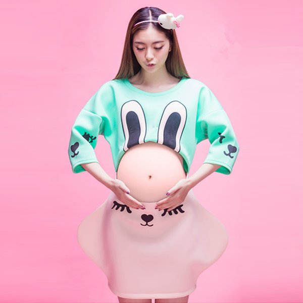 Fashion 2017 New Lovely Sunshine Maternity Set Photography Props Dress Pregnant Women Clothes Fancy Pregnancy Photo Props Shoot