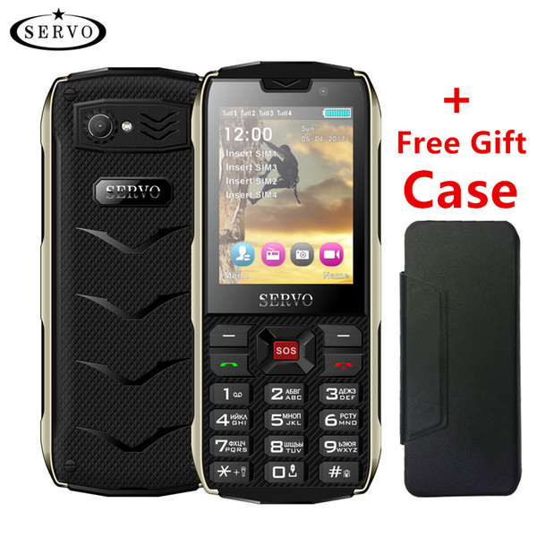 Unlocked cell Phone 2.8inch mobile Phone keyboard Features phone 4 SIM card 4 standby Bluetooth Flashlight GPRS 3000mAh Power Bank
