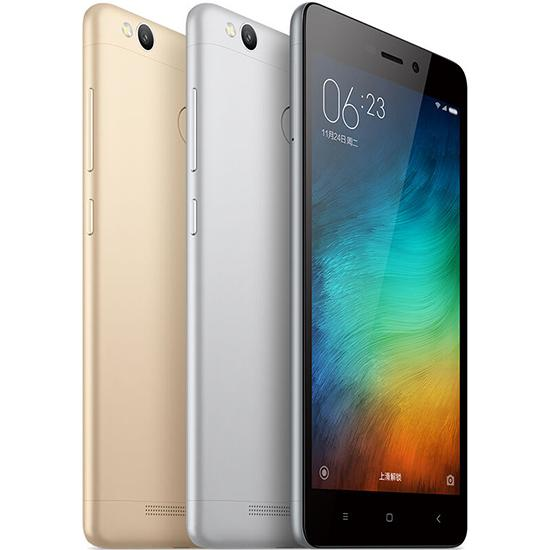 Octa core 4G network Ram 2GB Rom 16GB unlocked original xiaomi Redmi 3S smart phone inch 5 cell phone Android with WIFI GPS Bluetooth