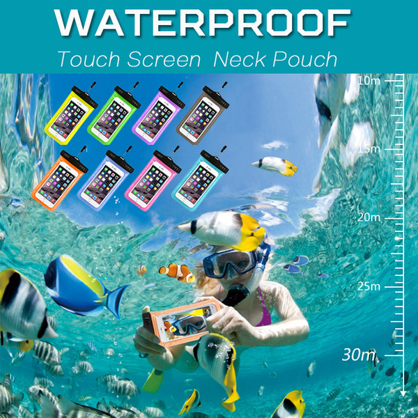 Waterproof Case Touch Screen PVC Dry Bag Universal Diving Swimming Pouch Cover For iPhone XS Plus X 8 7 6 2018 Samsung LG Sony Huawei Xiaomi