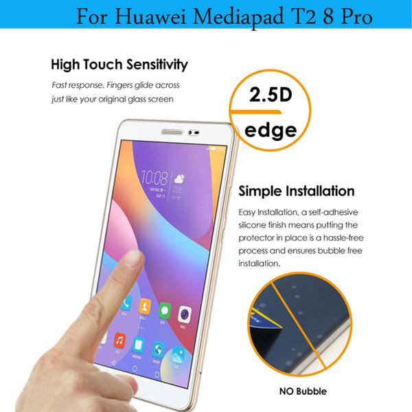 Al por mayor - Protector de pantalla para Huawei Mediapad T2 8 Pro de alta calidad de vidrio templado HD para Huawei Honor Pad 2 8.0