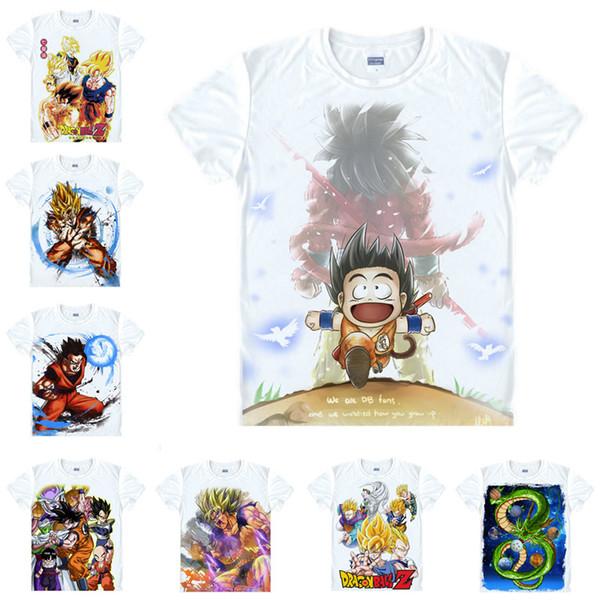 Japanese Anime Shirt Dragon Ball T-Shirts Multi-style Short Sleeve Son Goku, Kakarotto, Piccolo Daimao Cosplay Costume Kawaii Gift