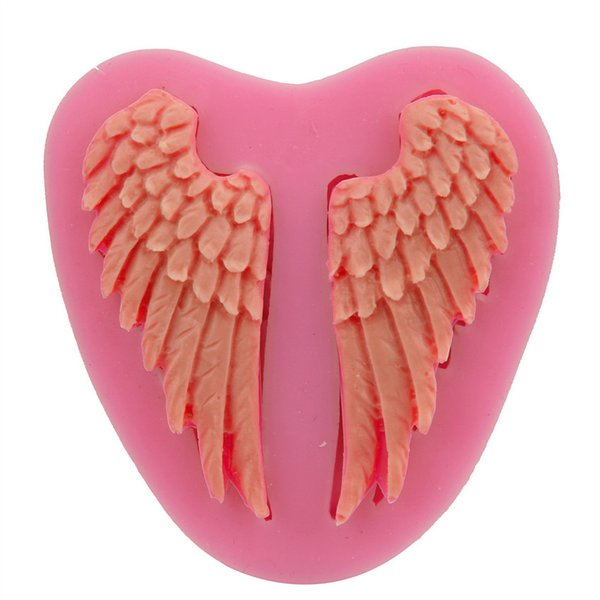 Angel Wings Mold Silicone Fondant Cake Mold Soap Mold Chocolate Candy Mould Moulds DIY Decorating Baking Pink Kitchen Tools