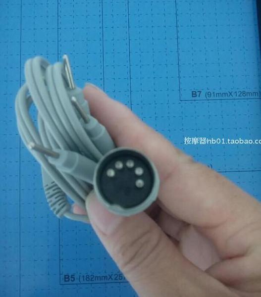 5pcs Electrode Lead Wires D5P Plug 4 Pin Connection Cables for Digital Massage TENS EMS machine