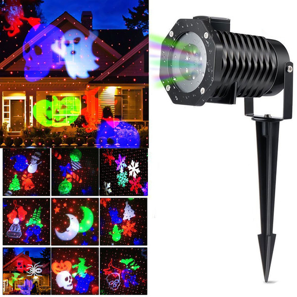 Christmas Light Projector.2019 Christmas Light Projector Ucharge Rotating Projector Snowflake Spotlight Led Light Show For Halloween Party Holiday Decoration From Adairs