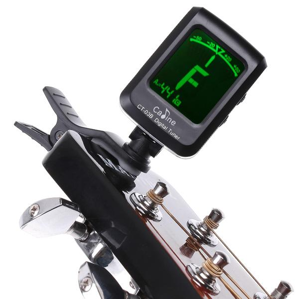 best selling Mini Clip-on Clip on LCD Display Guitar Tuner Backlight 360 Degree Rotatable Clip Tuner for Guitar Chromatic Bass Violin Ukulele