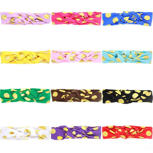 2017 Hot Headbands For Girls Chinese Knot Knotted Baby Tiaras Christmas Meltic Dot Korean Hair Accessories 12 Styles 20 Pcs Free shipping