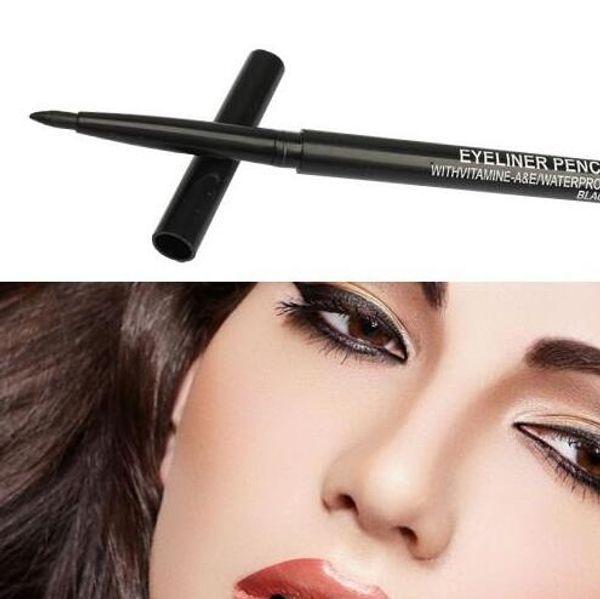 best selling 60PCS Lot Pro Makeup Rotary Retractable Black & Brown Gel Eyeliner Beauty Pen