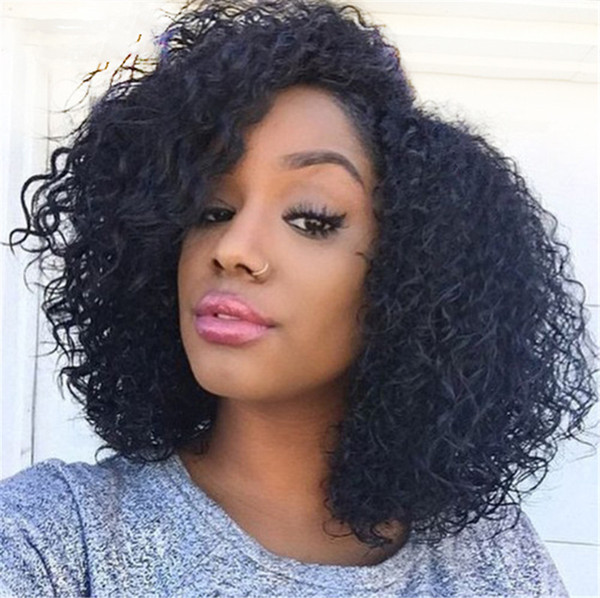 Full Lace Wig with Silk Top 4*4 Virgin Malaysian Kinky Curly Silk Top Lace Front Human Hair Wig for Black Women FDSHINE HAIR