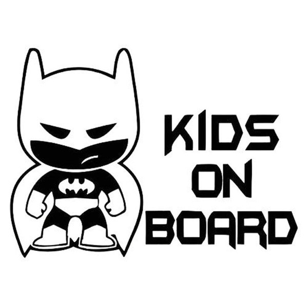 19*13.9CM Batman Cartoon Sticker BABY ON BOARD Car Styling Decal Decorative Vinyl Car Stickers JDM