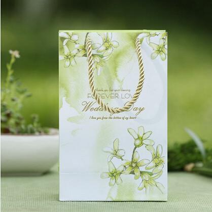 PASAYIONE Portable Wedding Favors Bags Elegant Flower Printing Candy Bags Wedding Decorative Centerpieces Casamento Packing Bags