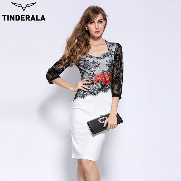 2018 Tinderala 2017 Women Vintage Elegant Wedding Guest Embroidered ...