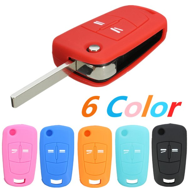 New Silicone 2 Button Flip Remote Key Case Fob Cover For Vauxhall /Opel /Astra /Vectra Key Shell