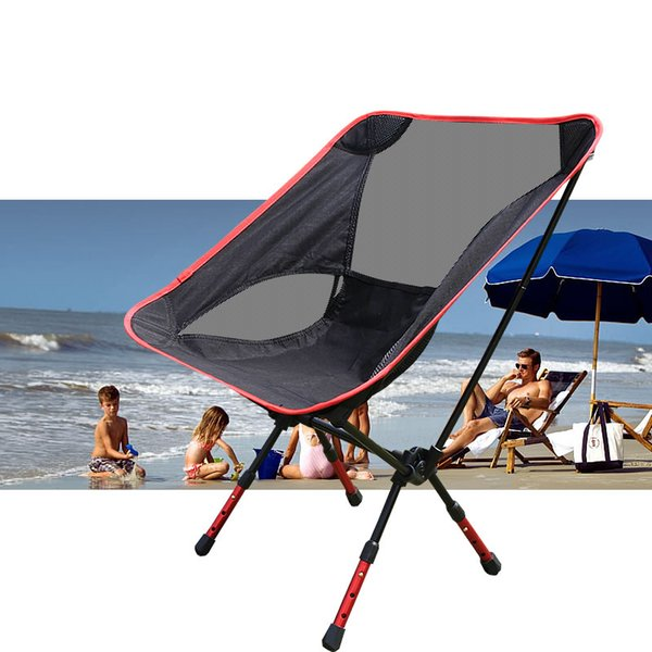 Wholesale- NEW Hot Portable Light weight Folding Camping Stool Chair Seat For Fishing Festival Picnic BBQ Beach With Bag Red Orange Blue