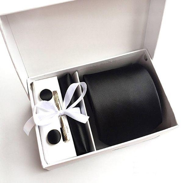 2017 neue Design Silk Männer Krawatten Clip Hanky Manschettenknöpfe sets Formal Wear Business Hochzeit 1200 nadelnTie für Herren K06