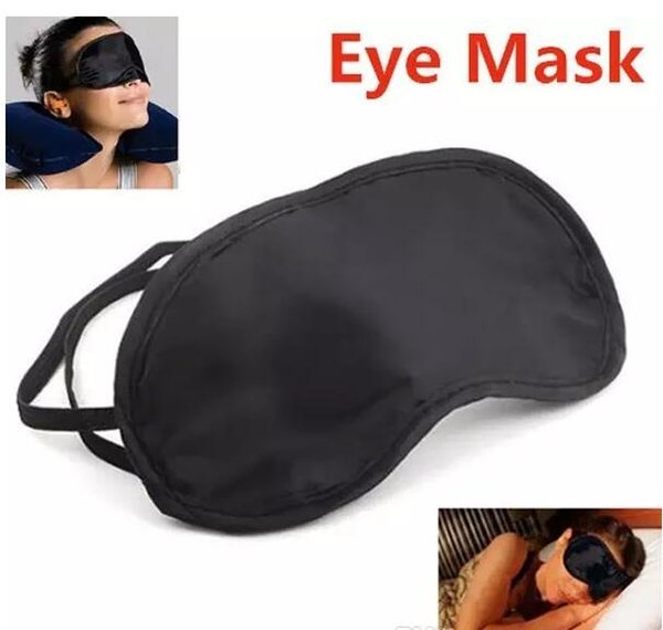 best selling High quality 2500Pcs lot Shade Eyeshade Sleep Rest Travel Eye Masks Nap Cover Blindfold Skin Health Care Treatment Black Sleep Free shipping