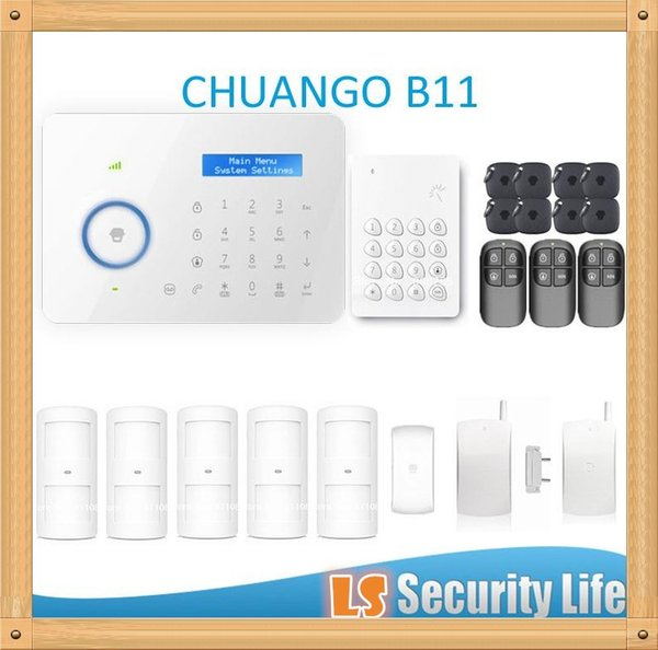 Горячая продажа B11 Chuango двойной сети PSTN и GSM охранной сигнализации CGP420kit