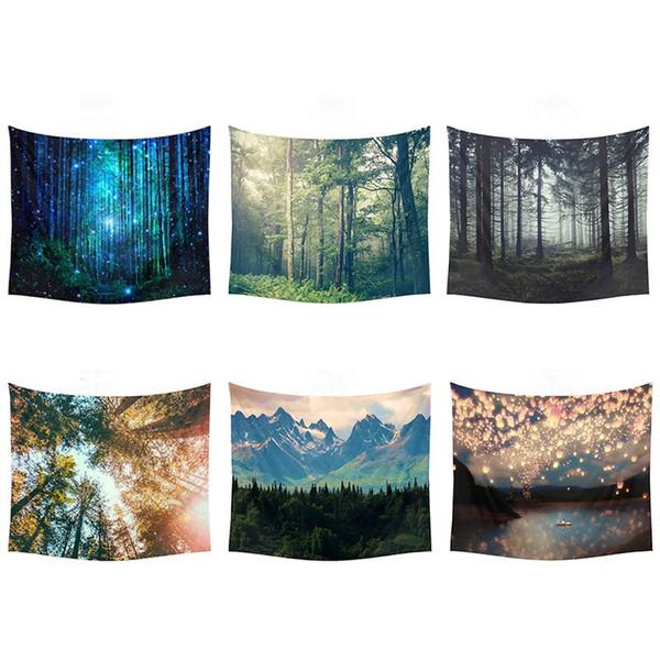 Galaxy Stars Tapestry Rainforest Beautiful Scenery Multiuso Stampato Wall Hanging Decorazione della spiaggia dell'hotel Yoga Mat