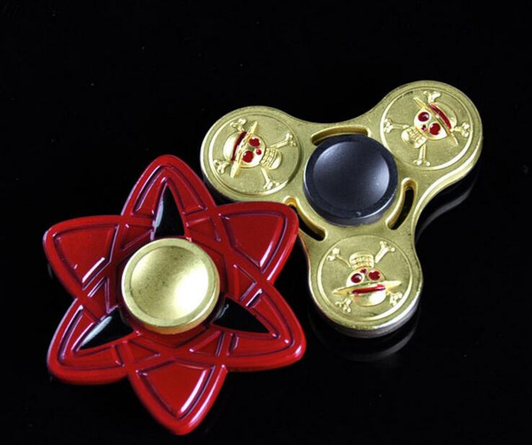 top popular ONE PIECE Hand Spinner Toys Fidget Handspinner Decompression EDC Finger Gyro Toy Fingertip One Piece Naruto Toys 2019